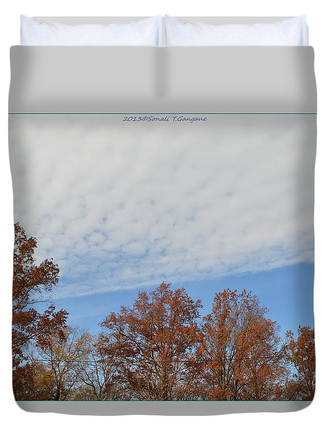 Canvasprints Duvet Cover featuring the photograph Nature's Brush Strokes by Sonali Gangane
