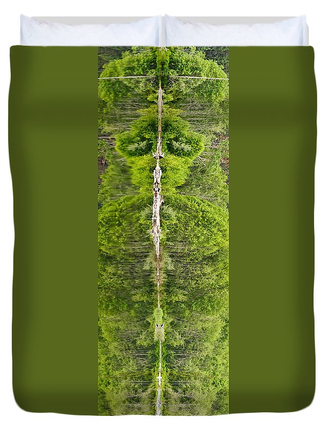 #nature Totem Duvet Cover featuring the photograph Natures Totem by Randy Giesbrecht