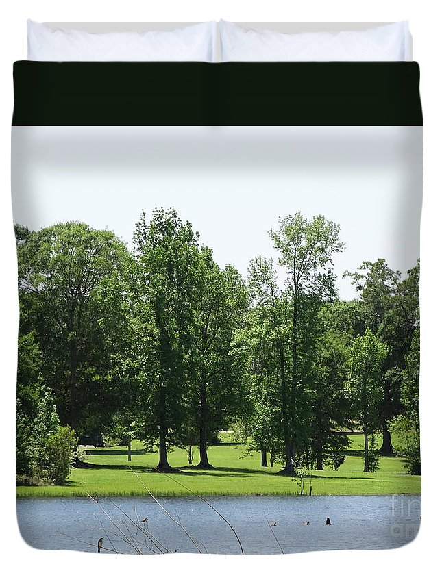 Drama Duvet Cover featuring the photograph Nature's Wonders by Joseph Baril