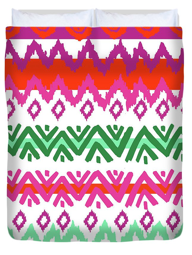Southwest Duvet Cover featuring the digital art Navajo Mission Round by Nicholas Biscardi
