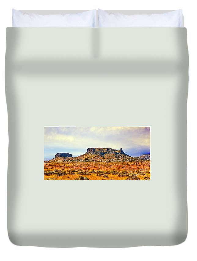 Navajo Duvet Cover featuring the photograph Navajo Nation Monument Valley by Bob and Nadine Johnston