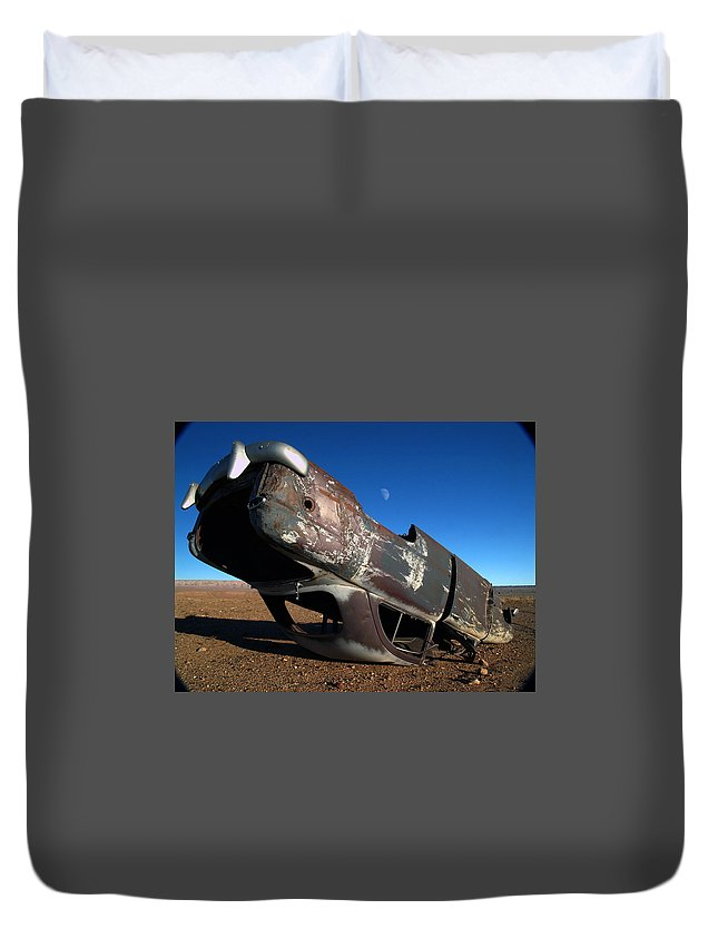 Landscapes Duvet Cover featuring the photograph Navajo Reservation 10 by Jeff Brunton