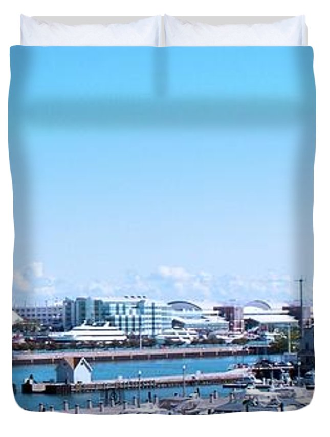 Cities Duvet Cover featuring the photograph Navy Pier Chicago Il Looking Northeast by Thomas Woolworth