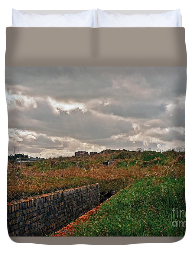 Travel Duvet Cover featuring the photograph Nazi Bunker by Elvis Vaughn