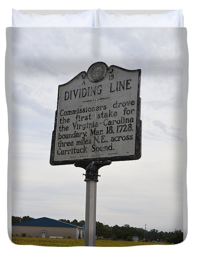 Dividing Line Duvet Cover featuring the photograph Nc-a15 Dividing Line by Jason O Watson
