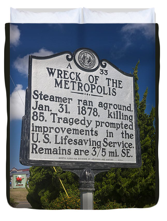 Wreck Of The Metropolis Duvet Cover featuring the photograph Nc-a33 Wreck Of The Metropolis by Jason O Watson