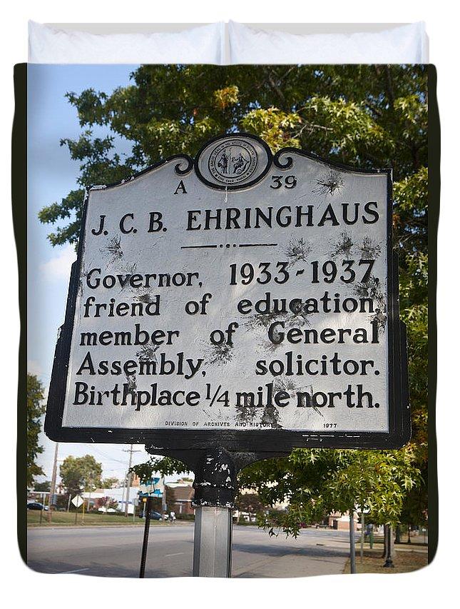 J.c.b. Ehringhaus Duvet Cover featuring the photograph Nc-a39 J.c.b. Ehringhaus by Jason O Watson