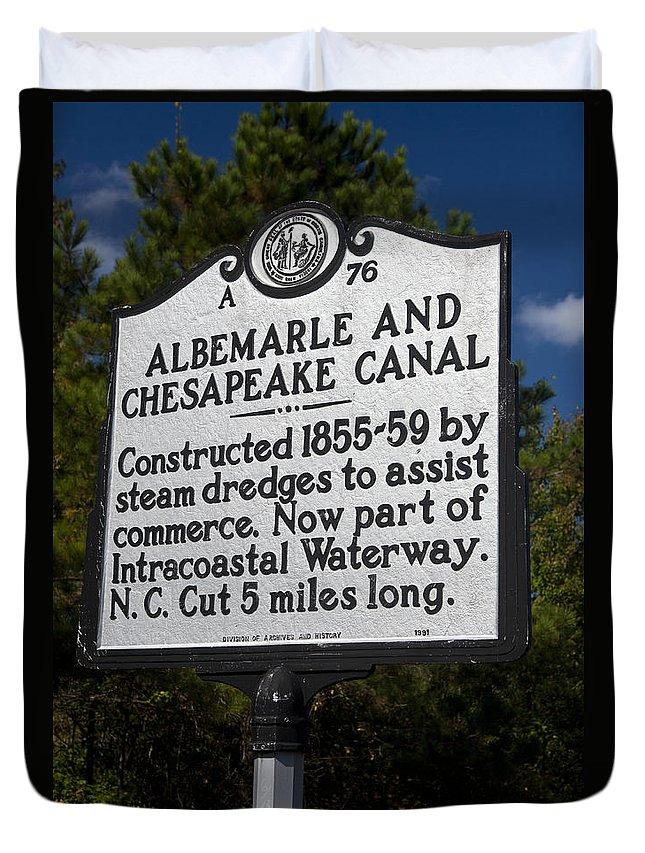 Albemarle And Chesapeake Canal Duvet Cover featuring the photograph Nc-a76 Albemarle And Chesapeake Canal by Jason O Watson