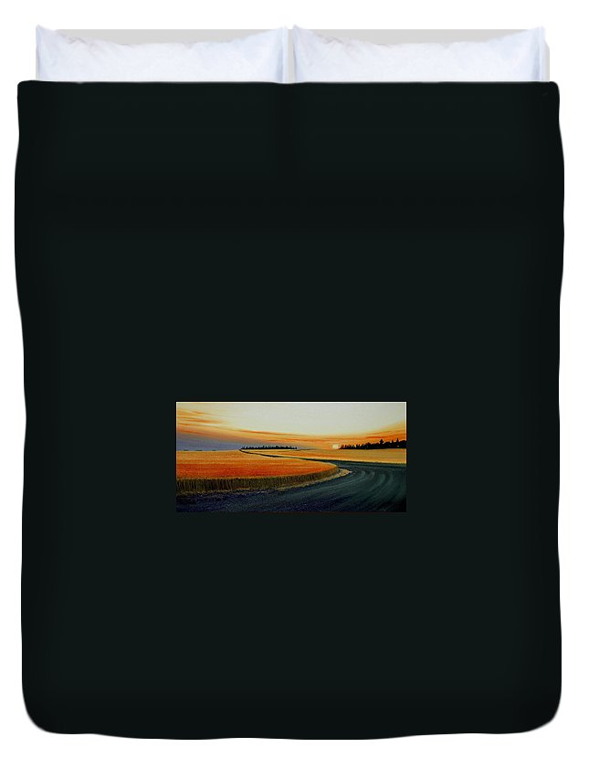 Wheat Duvet Cover featuring the painting Near Moscow by Leonard Heid