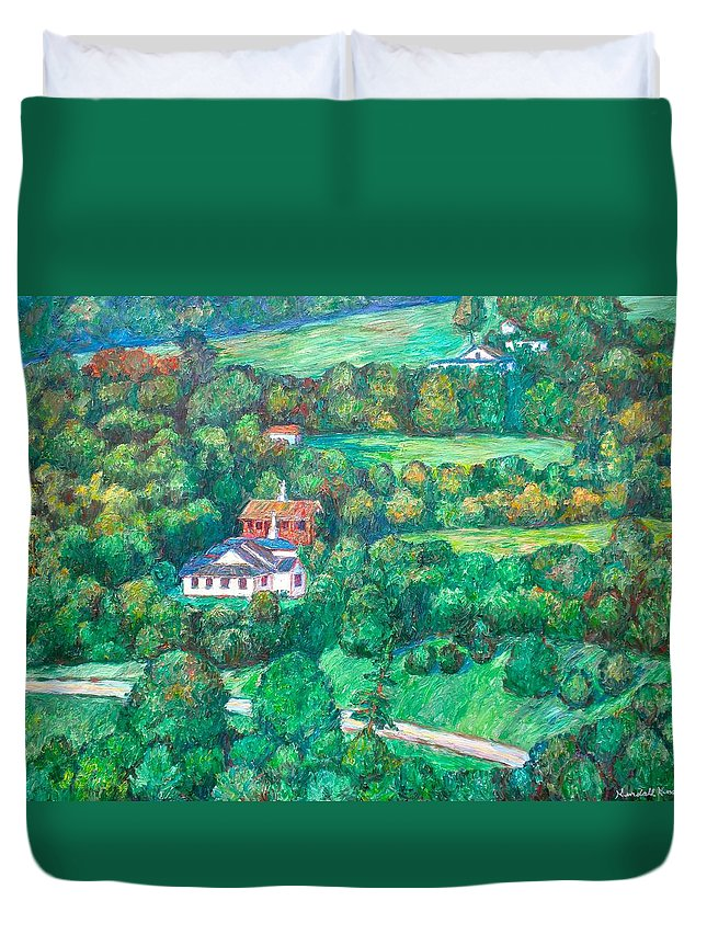 Mountains Paintings Duvet Cover featuring the painting Near Tuggles Gap by Kendall Kessler
