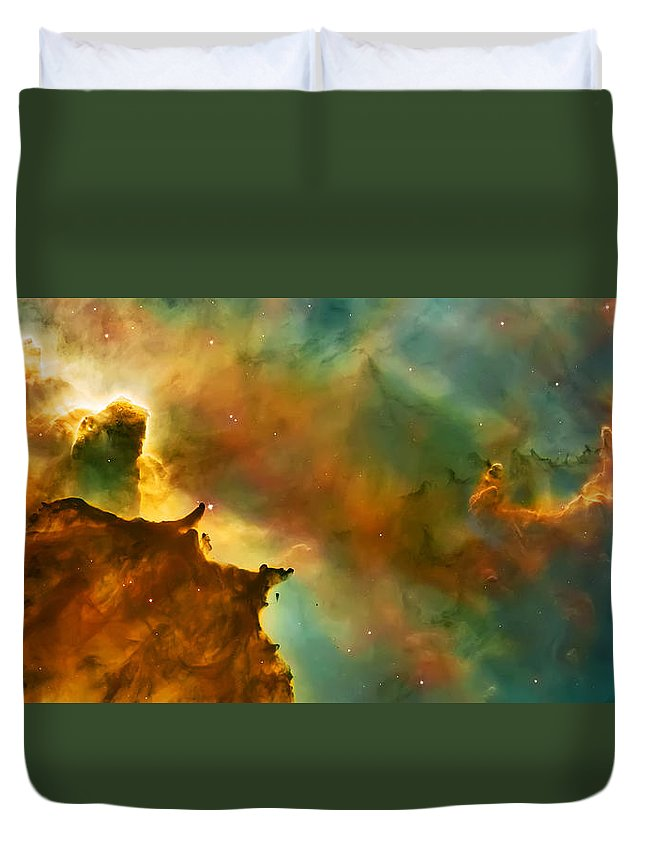 Nasa Images Duvet Cover featuring the photograph Nebula Cloud by Jennifer Rondinelli Reilly - Fine Art Photography
