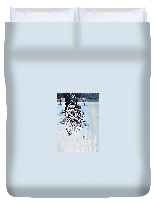 Snow Duvet Cover featuring the painting Neglected by Spencer Meagher