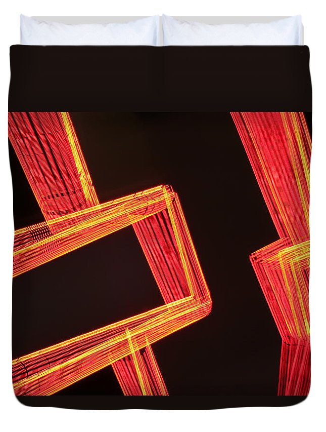 Neon Duvet Cover featuring the photograph Neon Maze by Ric Bascobert