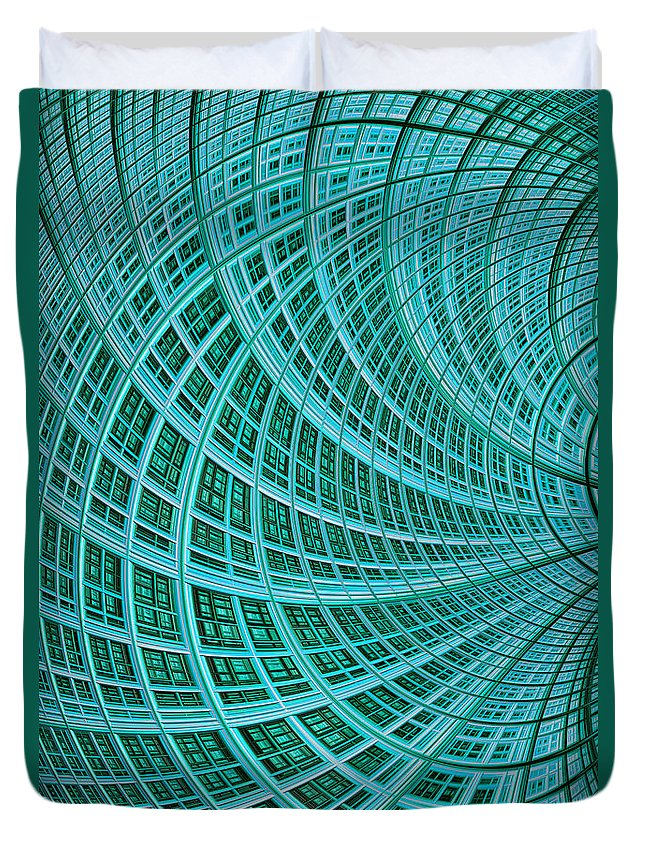 Mesh Duvet Cover featuring the digital art Network by John Edwards