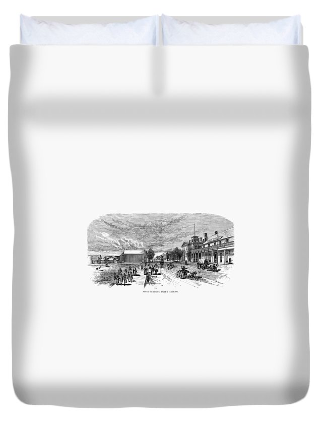 19th Century Duvet Cover featuring the painting Nevada Carson City by Granger