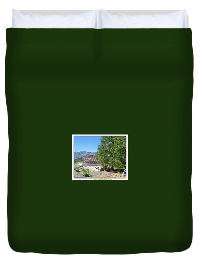 Nevada Prints Duvet Cover featuring the photograph Nevada Landmark by Bobbee Rickard