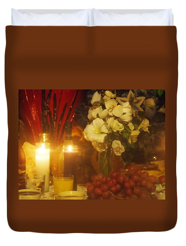 Duvet Cover featuring the photograph Never Alone by Jill Rucker Simmons