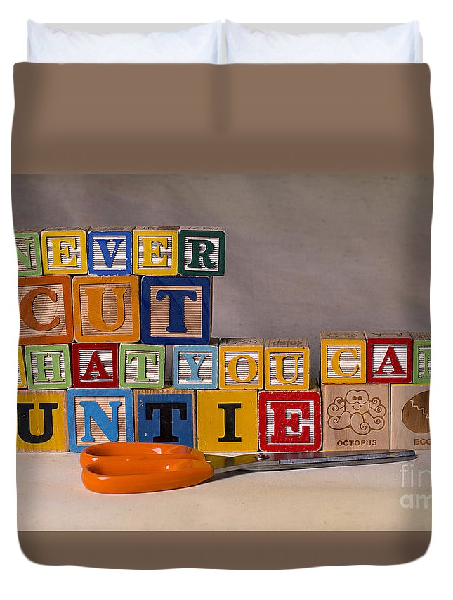 Never Cut What You Can Untie Duvet Cover featuring the photograph Never Cut What You Can Untie by Art Whitton