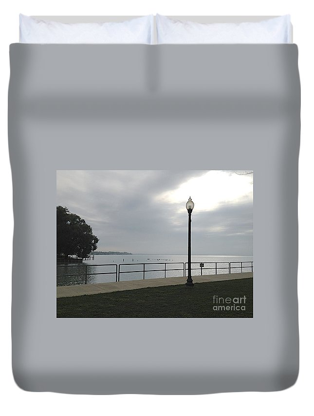 Anchor Bay Duvet Cover featuring the photograph New Baltimore by Joseph Yarbrough
