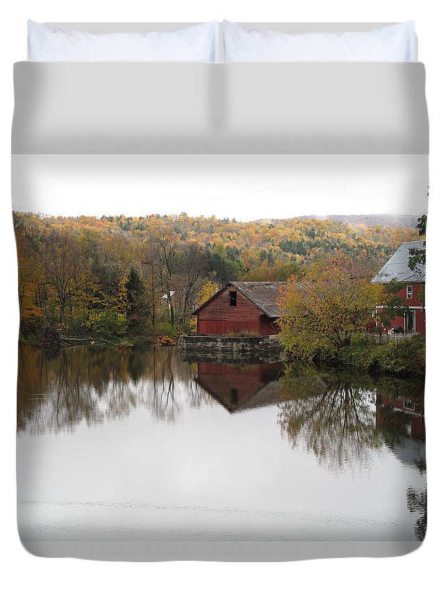 Foliage Duvet Cover featuring the photograph New England Autumn Two by Barbara McDevitt