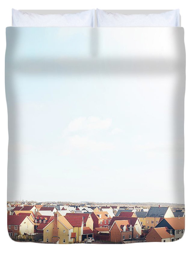 Cambridgeshire Duvet Cover featuring the photograph New Houses by Tim Robberts