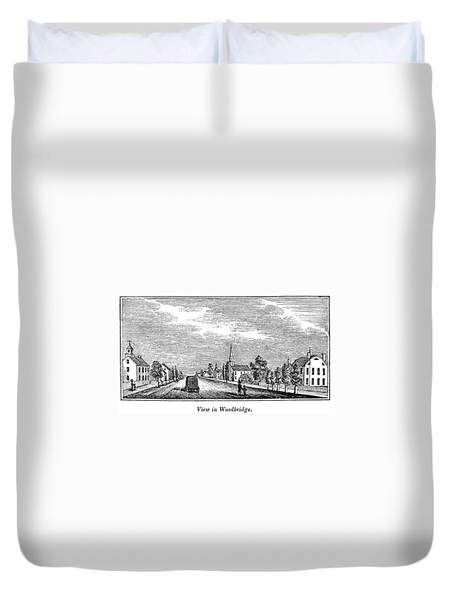 1844 Duvet Cover featuring the painting New Jersey Woodbridge by Granger