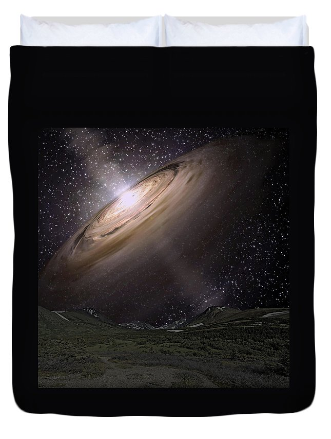 Shine Duvet Cover featuring the photograph New Life by Paul Fell