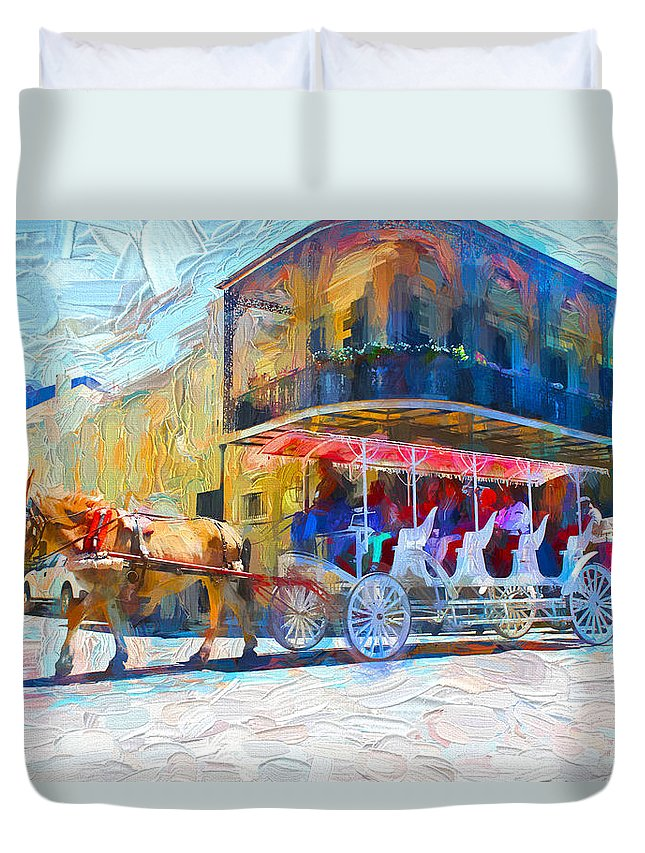 New Orleans Duvet Cover featuring the photograph New Orleans Series 53 by Carlos Diaz
