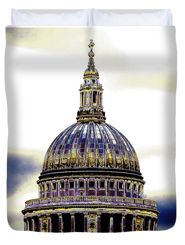 Cathedral Duvet Cover featuring the photograph New Photographic Art Print For Sale  Iconic London St Paul's Cathedral by Toula Mavridou-Messer