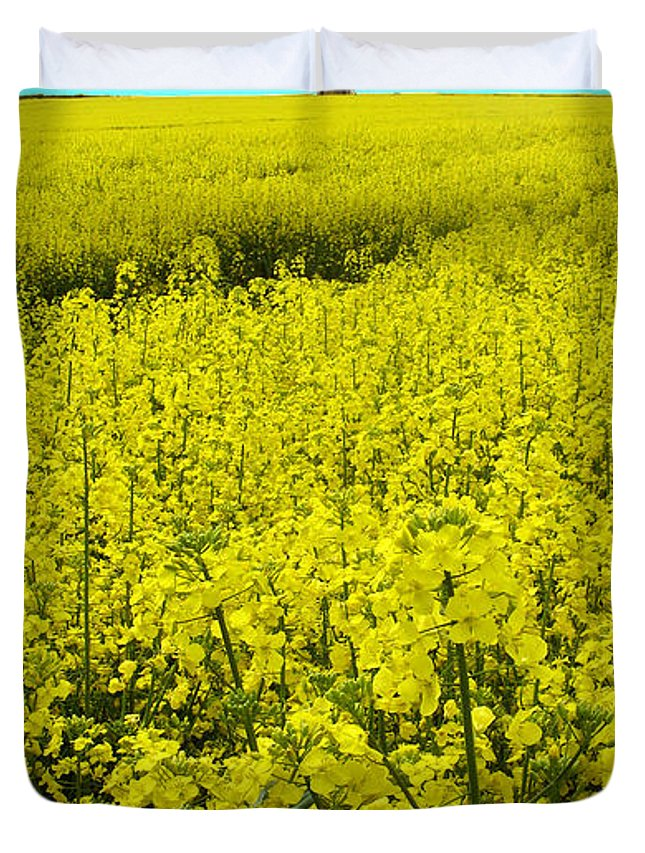 Nature Duvet Cover featuring the photograph New Photographic Art Print For Sale Yellow English Fields 4 by Toula Mavridou-Messer