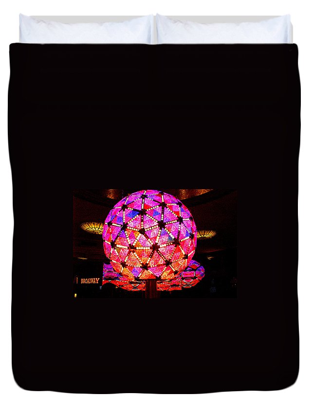 New Year's Duvet Cover featuring the photograph New Year's Ball by Pablo Rosales