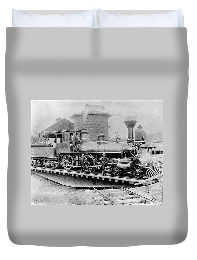 1880 Duvet Cover featuring the photograph New York Central, 1880 by Granger
