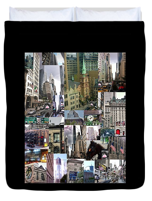 New York City Collage Duvet Cover featuring the photograph New York City Collage by Susan Garren