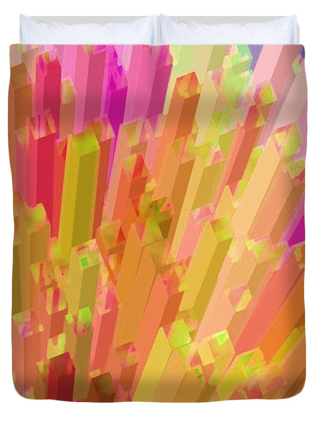 Abstract Duvet Cover featuring the photograph New York City On A Bright And Sunny Day by Robert Burns