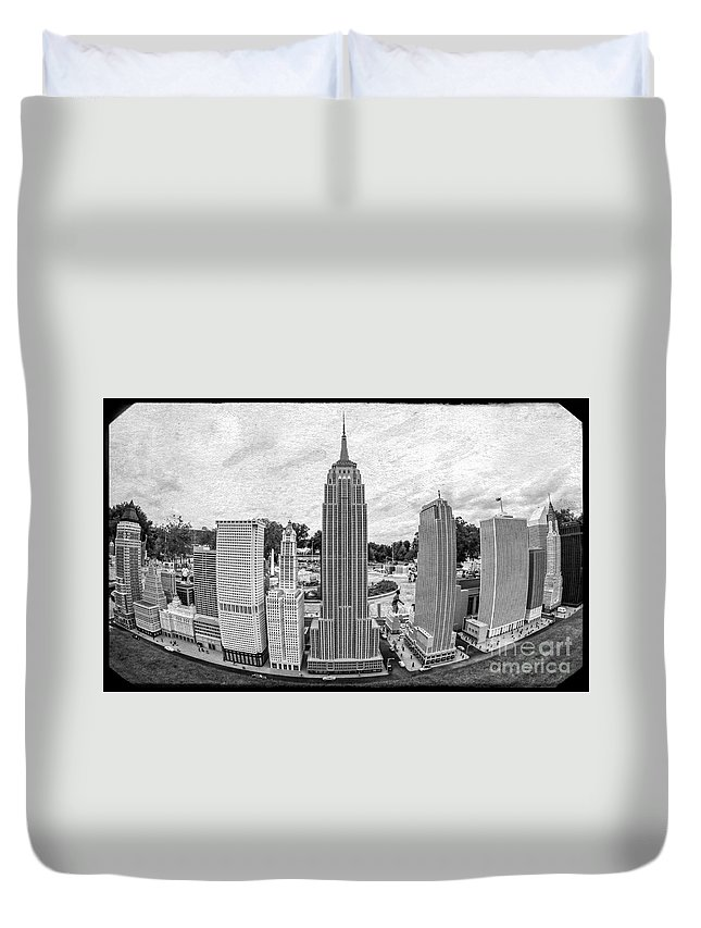 Florida Duvet Cover featuring the photograph New York City Skyline - Lego by Edward Fielding