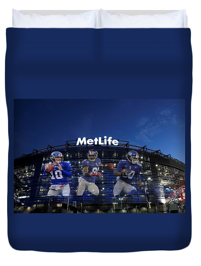 Giants Duvet Cover featuring the photograph New York Giants Metlife Stadium by Joe Hamilton