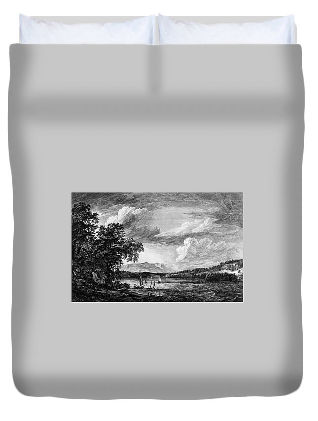 1761 Duvet Cover featuring the painting New York Poughkeepsie by Granger