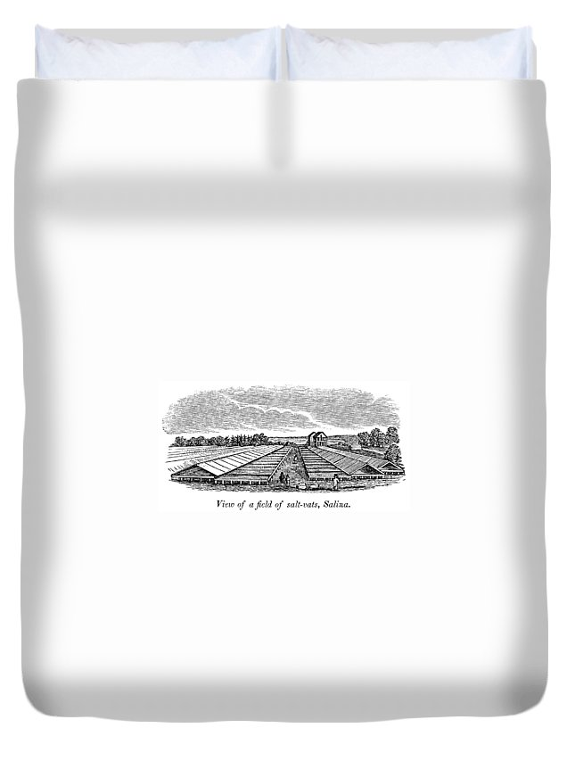 1841 Duvet Cover featuring the painting New York Salina, 1841 by Granger