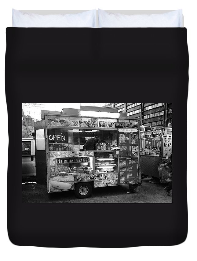 Apples Duvet Cover featuring the photograph New York Street Photography 17 by Frank Romeo