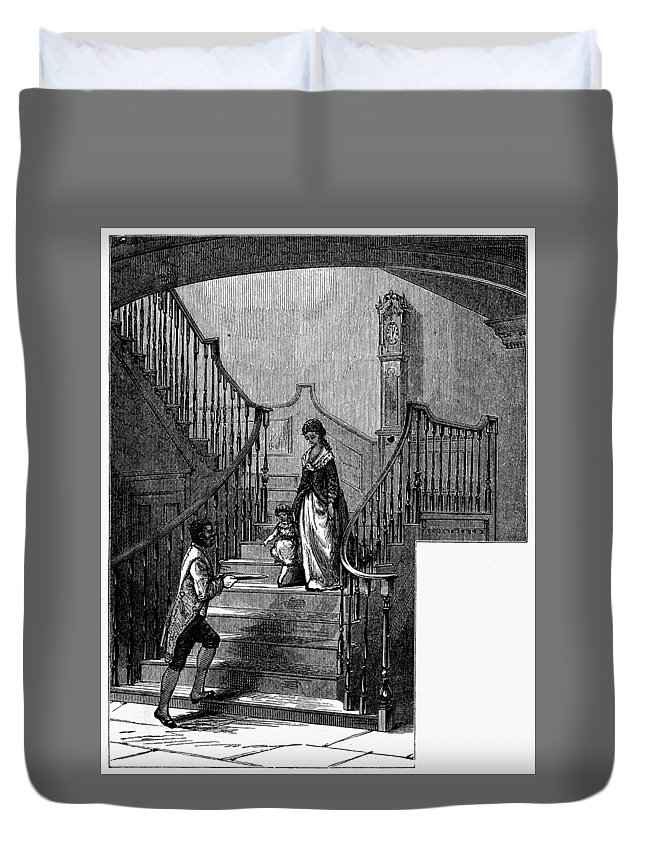 1780 Duvet Cover featuring the painting Newark Schuyler Mansion by Granger