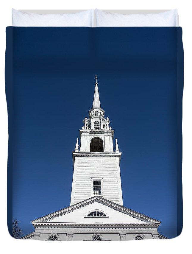 First Congregational Church Of Newburyport Duvet Cover featuring the photograph Newburyport Church by John Greim