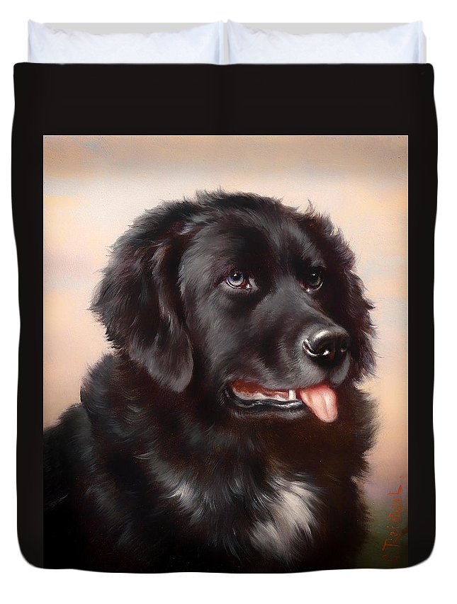 Newfoundland Duvet Cover featuring the painting Newfoundland by Mountain Dreams