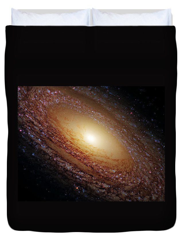 Outer Duvet Cover featuring the photograph Ngc 2841 by Ricky Barnard