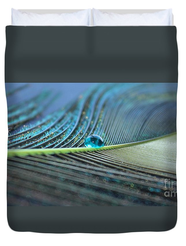 Feather Duvet Cover featuring the photograph Night Fall by Krissy Katsimbras