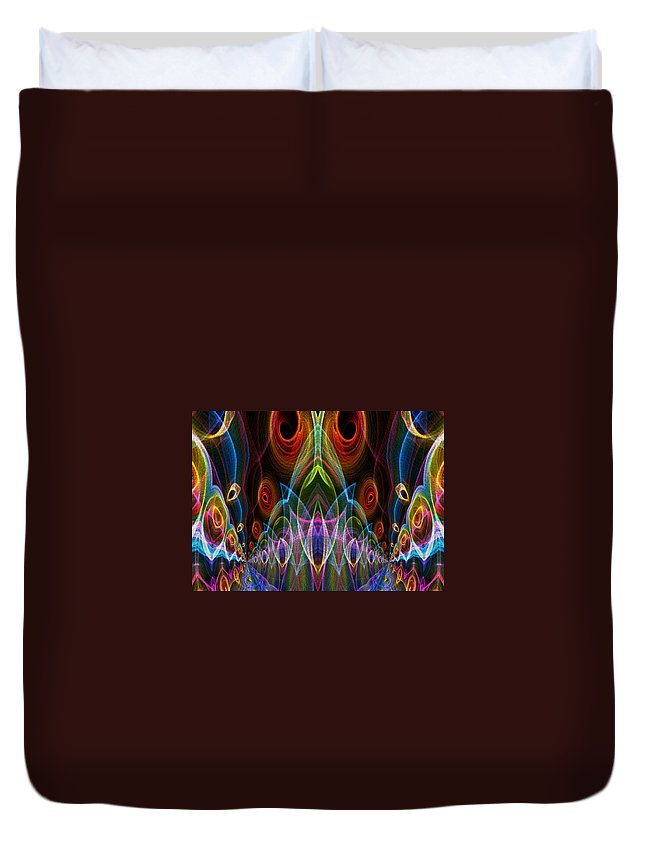 Series Echo Duvet Cover featuring the digital art Night On The Town by Owlspook
