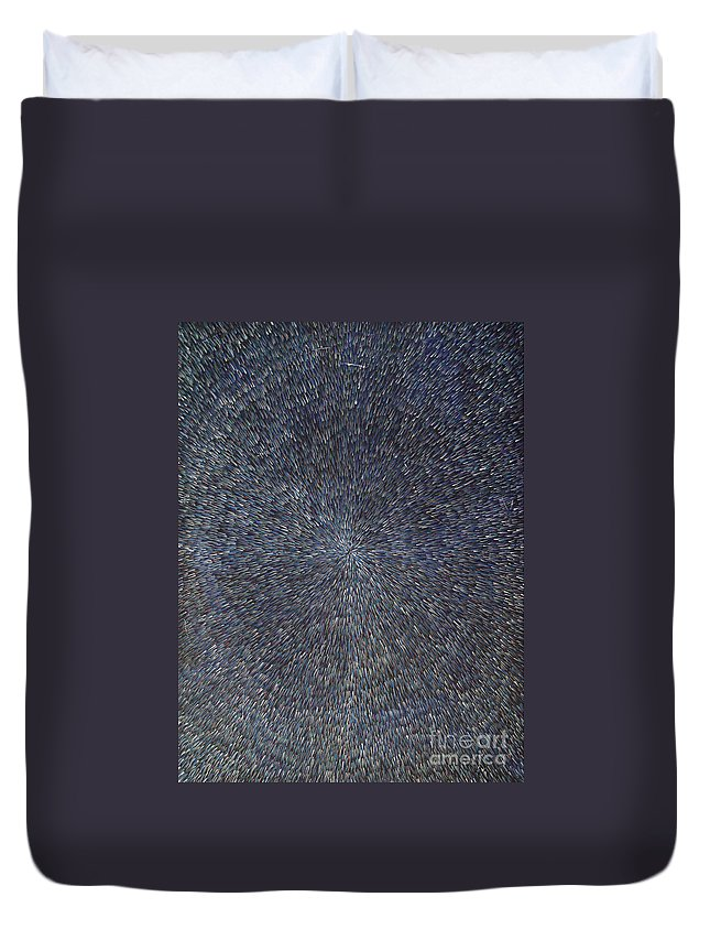 Abstract Duvet Cover featuring the painting Night Radiation by Dean Triolo