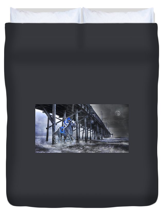 Fantasy Duvet Cover featuring the photograph Night Run II by Betsy Knapp