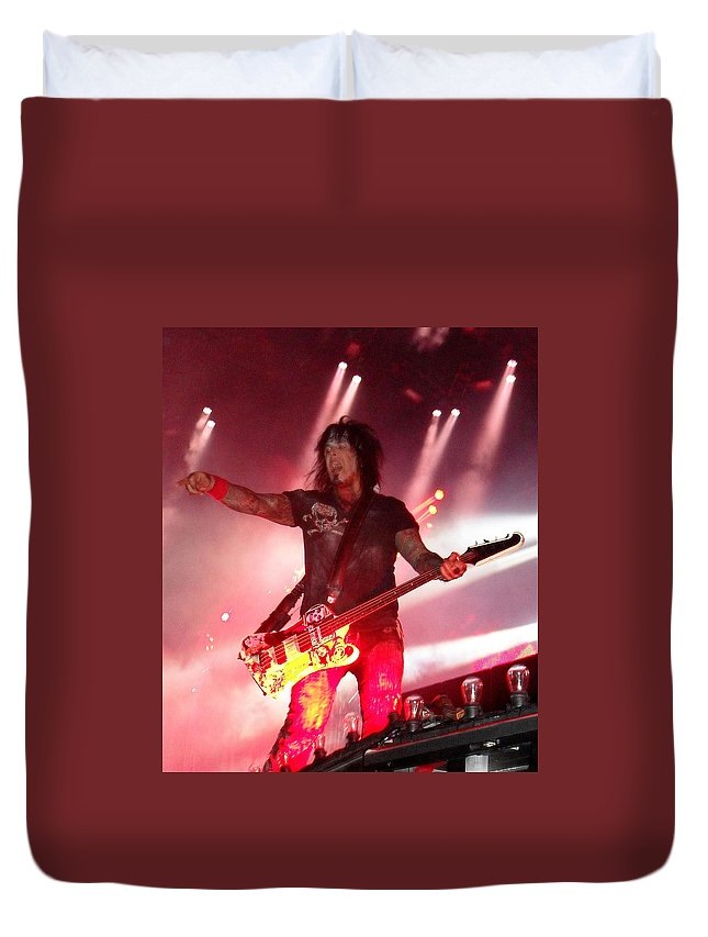 Motley Crue Duvet Cover featuring the photograph Nikki by Sheryl Chapman Photography
