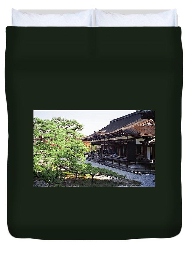 Japan Duvet Cover featuring the photograph Ninna-ji Temple Garden - Kyoto Japan by Daniel Hagerman