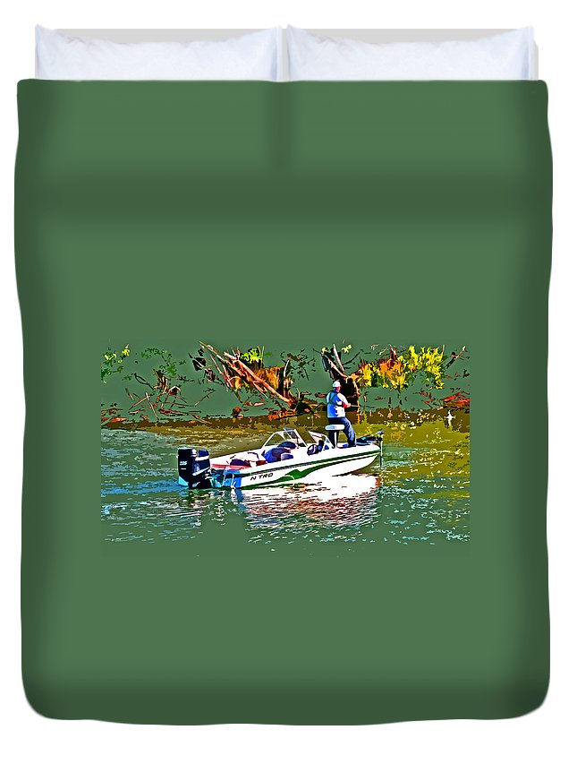 Nitro Bass Boat Duvet Cover featuring the photograph Nitro Bass Boats by Joseph Coulombe